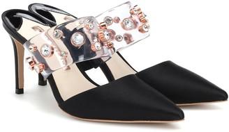 Sophia Webster Dina embellished satin pumps