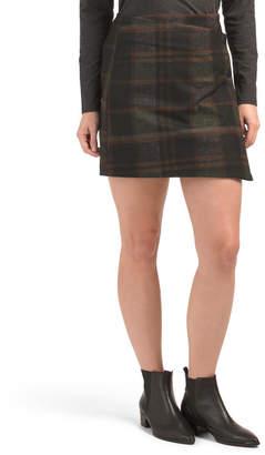 Plaid Foldover Skirt