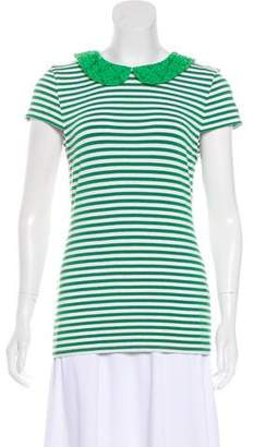 Alice + Olivia Embroidered Collar T-shirt w/ Tags