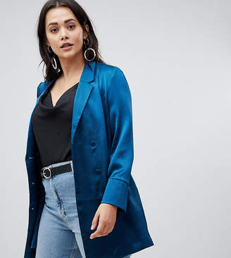 Vero Moda Curve Double Breasted Long Line Blazer