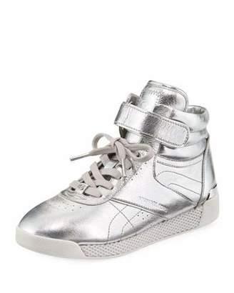 MICHAEL Michael Kors Addie High-Top Metallic Sneaker