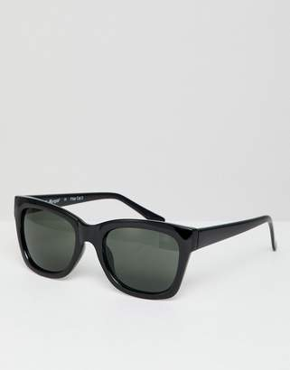 A. J. Morgan Aj Morgan AJ Morgan round sunglasses in black