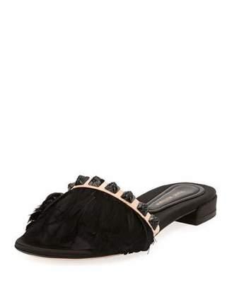 Stuart Weitzman Lando Feather Slide Sandal