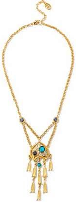 Ben-Amun Gold-Tone Cabochon Necklace