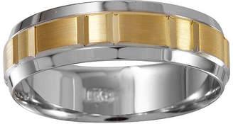 MODERN BRIDE Mens 6mm 10K Two-Tone Gold Wedding Band