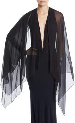 Urban Zen Sleeveless V-Neck Plunge Bodysuit w/ Chiffon Scarf
