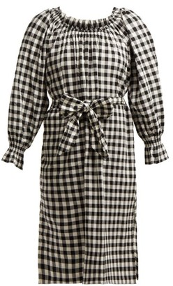 Belize - Maryam Gingham Cotton Dress - Womens - Black White