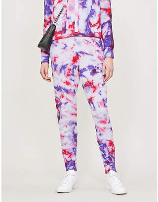 Zoe Jordan Connely tie-dye print wool and cashmere-blend jogging bottoms