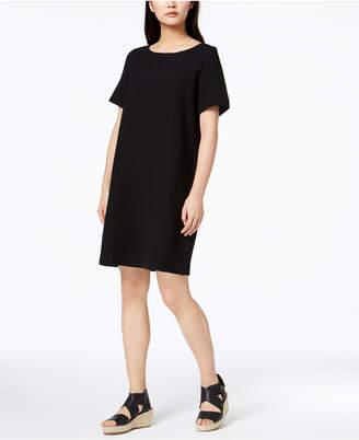 Eileen Fisher Tencel Textured Knit Shift Dress