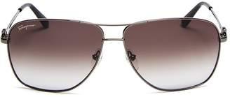 Salvatore Ferragamo Navigator Gancini Sunglasses, 61mm $276 thestylecure.com