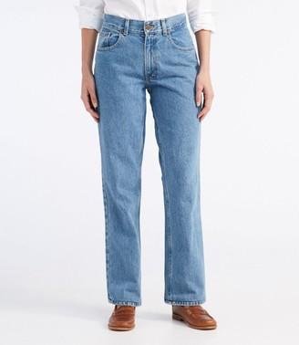 L.L. Bean L.L.Bean Women's Double L Jeans, Straight-Leg