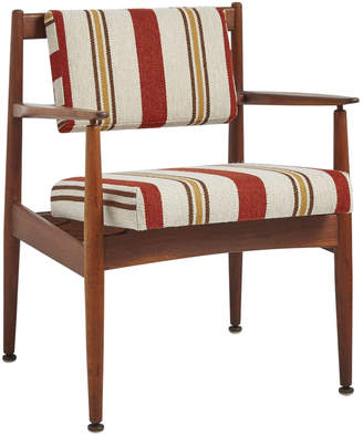 Rejuvenation Walnut Jens Risom Chair Model C160 w/ Newly Upholstered Cushions