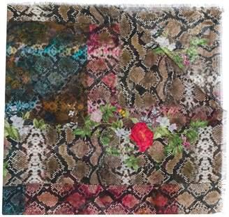 Preen by Thornton Bregazzi Monica snakeskin print scarf