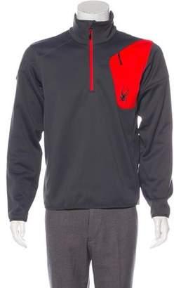 Spyder Woven Half-Zip Sweater