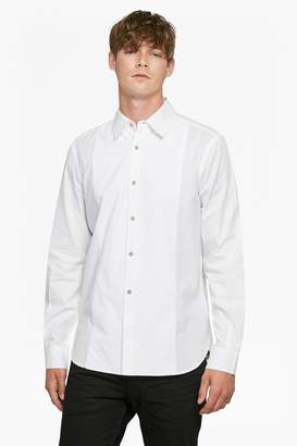 French Connection Oxford Corduroy Formal Bib Shirt