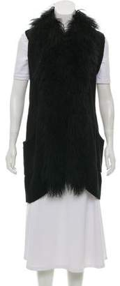 Pologeorgis Fur-Trimmed Knit Vest