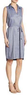 Lafayette 148 New York Robinson Belted Sleeveless Dress