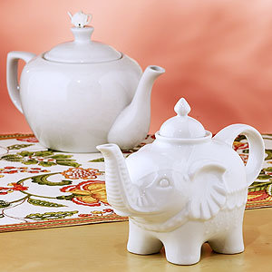White Ceramic Teapots