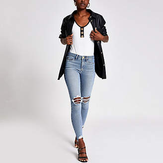 River Island Denim Molly mid rise ripped jegging