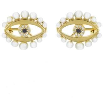 Ileana Makri EYE M by Eye Flow Pearl Stud Earrings