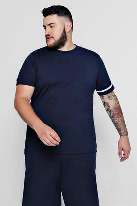 boohoo Big And Tall Stripe Detail T-Shirt