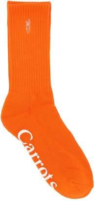 Carrots Word Mark Cotton Crew Socks