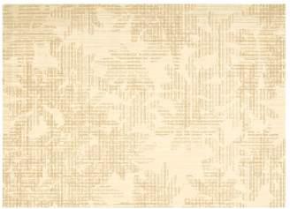 Calvin Klein urban - linen flower rug in biscuit