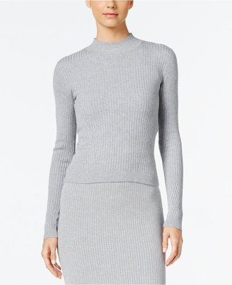 MICHAEL Michael Kors Ribbed Mock-Neck Sweater $110 thestylecure.com