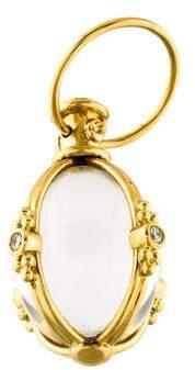 Temple St. Clair 18K Quartz & Diamond Classic Amulet Pendant
