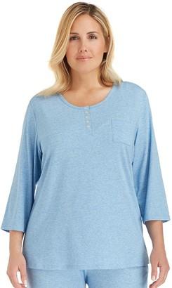 Cuddl Duds Plus Size Pajamas: Essentials Pajama Top