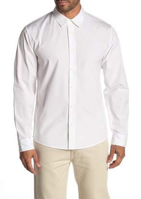 Vince Reverse Placket Slim Fit Shirt