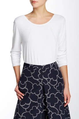 Pink Tartan Pointelle Scoop Neck Skivvy Pullover $295 thestylecure.com