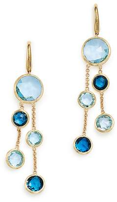 Marco Bicego 18K Yellow Gold Jaipur Mixed Blue Topaz Double Strand Earrings - 100% Exclusive