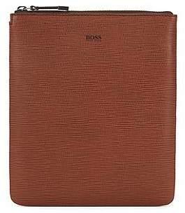 HUGO BOSS Envelope bag in printed Italian calf leather