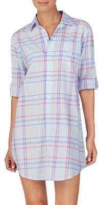 Lauren Ralph Lauren Plaid Button-Down Sleepshirt