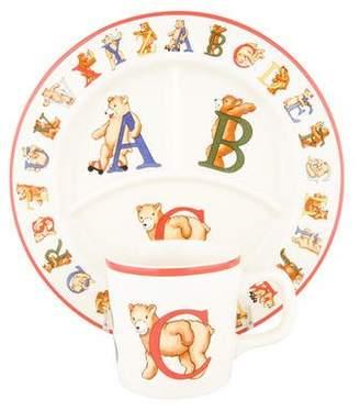 Tiffany & Co. 4-Piece Alphabet Bears Dining Set