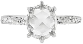Cathy Waterman Rose Cut Diamond Band Ring - Platinum