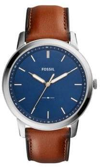 Fossil The Minimalist Three-Hand Leather Strap Watch