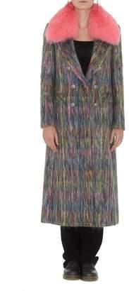 Arabella Giada Benincasa Coat With Fur Collar