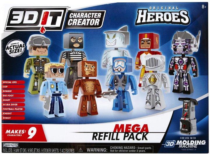 3DIT Character Creator Original Heroes Mega Refill Wave 1 Toy Figure
