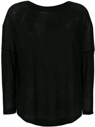 Semi-Couture Semicouture curved hem top