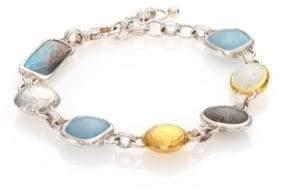 Gurhan Lentil Semi-Precious Multi-Stone, 24K Yellow Gold& Sterling Silver Storm Bracelet