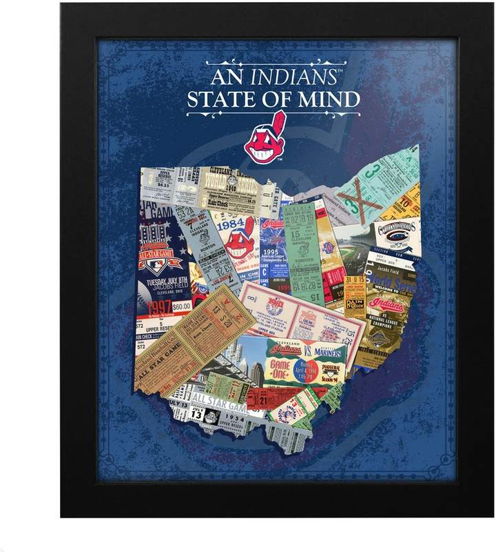 Cleveland Indians State of Mind Framed Wall Art