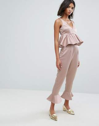 b2a6814a22 Lost Ink Pants With Peplum Hem Co-Ord