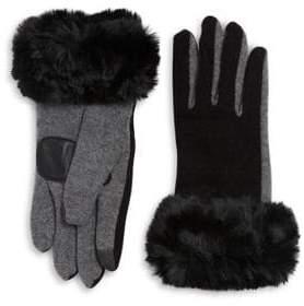 Echo Faux Fur Cuffs Gloves