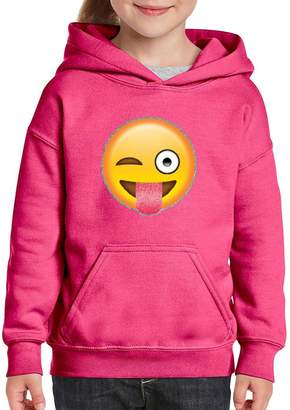 Xekia Emoji Face with Stuck Hoodie for Girls - Boys Youth Kids