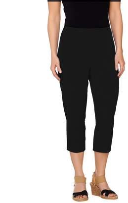 Susan Graver Weekend Coastal Stretch Comfort Waist Capri Pants