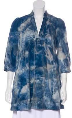 Current/Elliott Tie-Dye Long-sleeve Tunic