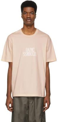 Oamc Pink Logo Roman Numeral T-Shirt