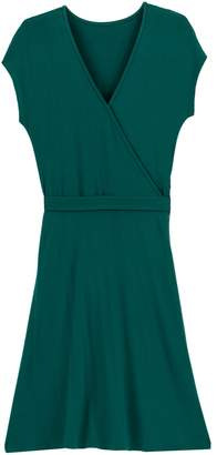 La Redoute COLLECTIONS Wrapover Midi Short-Sleeved Dress